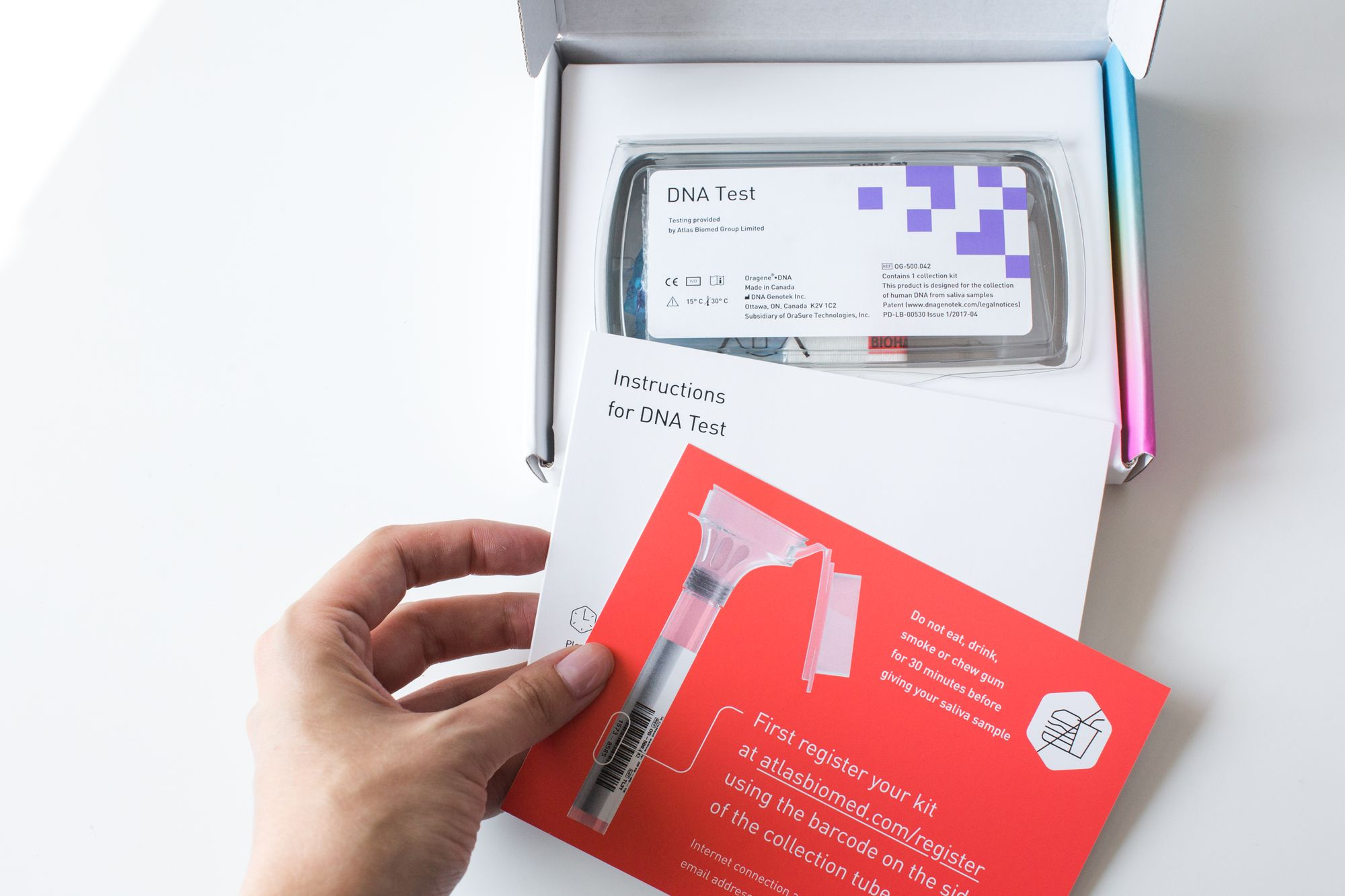 You can order an Atlas DNA Test online for home delivery.