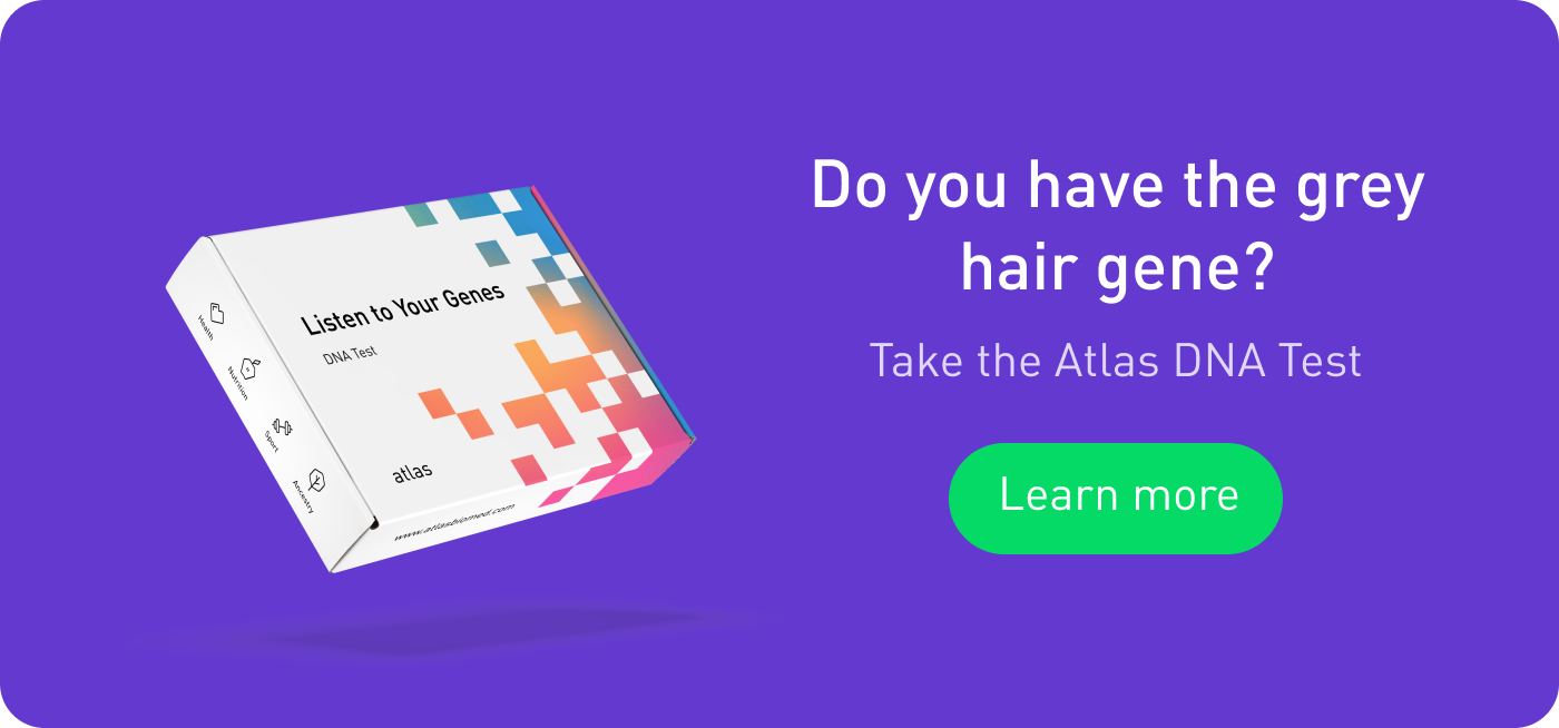 Check grey hair genetics with the Atlas DNA Test