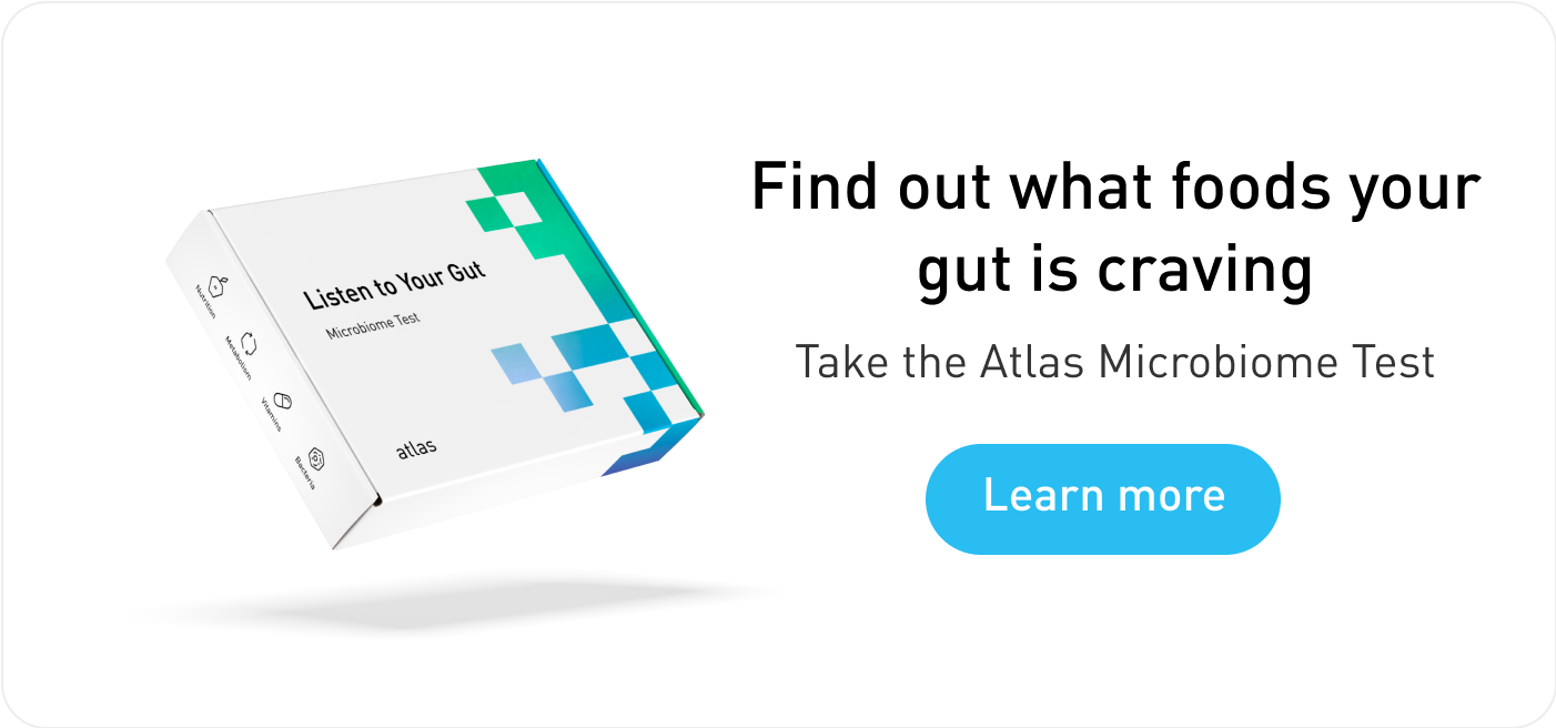 Atlas Microbiome Test for gut-friendly foods