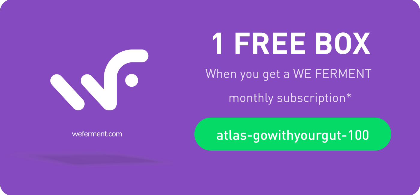 Exclusive We Ferment Discount for Atlas Biomed blog